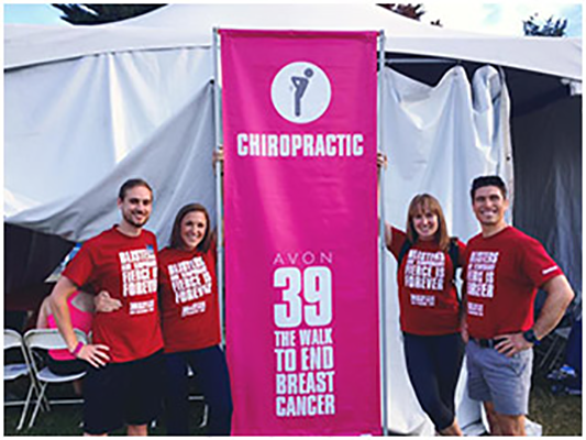 Chiropractor San Francisco CA Dr Nick Cruze Breast Cancer Walk